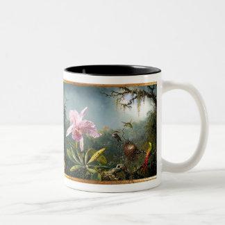 Taza tropical de los colibríes