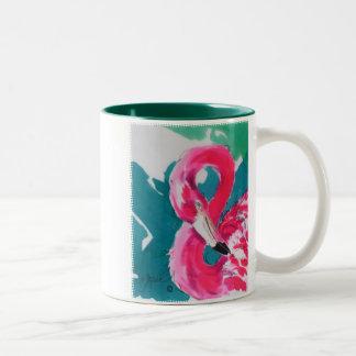 Taza tropical del arte del pájaro fabuloso del fla