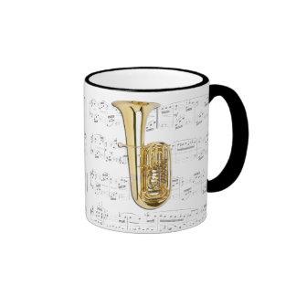 Taza - tuba con partitura