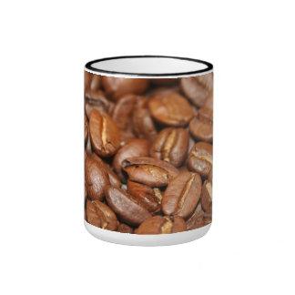 Taza, vaso, Getränk.Kaffeebohnen