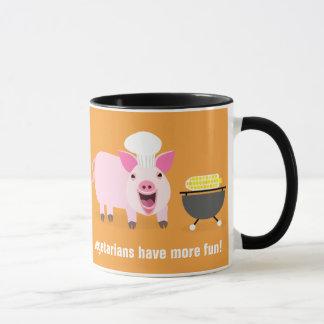 Taza vegetariana del cerdo