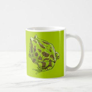 Taza verde (actualizada) de la rana de Pacman
