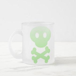 Taza verde de Frost del cráneo de la pendiente