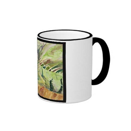 Taza verde de la iguana de Sheguana