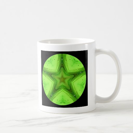 Taza verde de la mandala de la estrella