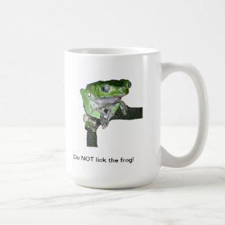 Taza verde de la rana arbórea