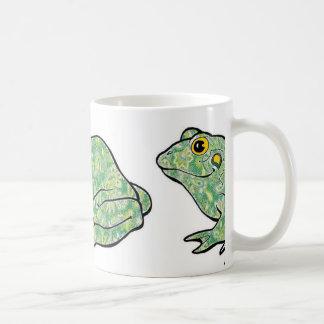 Taza verde de la rana de Paisley
