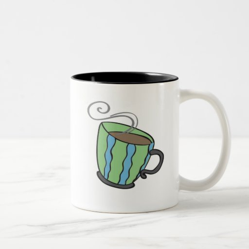 Taza verde de la taza de té