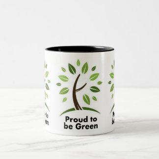 taza verde de los amantes coffee.tea