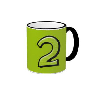 Taza verde de los números 2 tontos