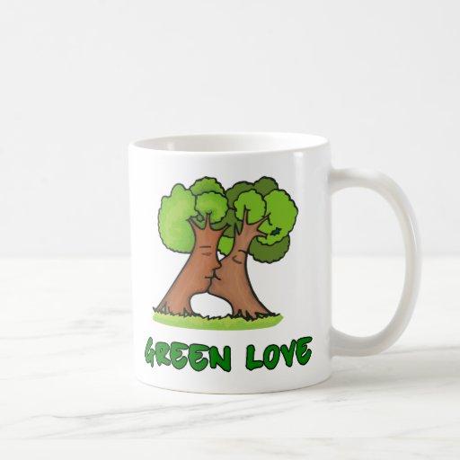 Taza verde del amor