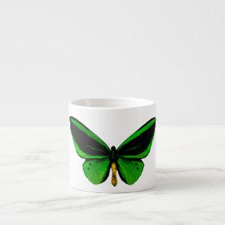 Taza verde del café express de la mariposa taza espresso