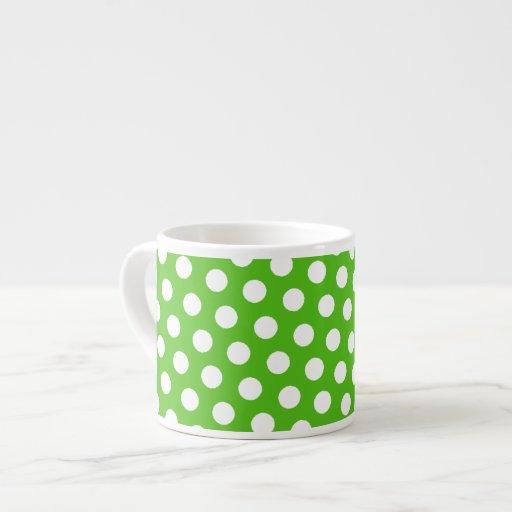 Taza verde del café express del café del lunar taza espresso