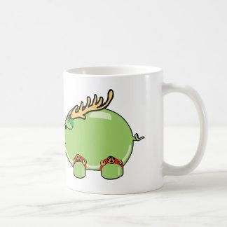 Taza verde del cerdo del DÍA DE FIESTA