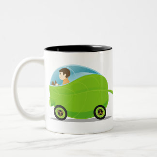 Taza verde del coche