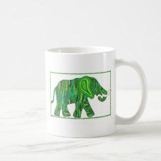 Taza verde del elefante del jade de Jerry