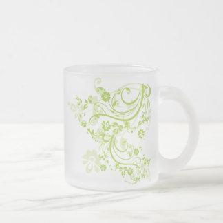 Taza verde del Flourish