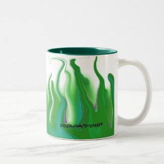 Taza verde del fuego