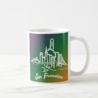 Taza verde del horizonte de San Francisco