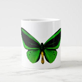 Taza verde del jumbo de la mariposa taza grande
