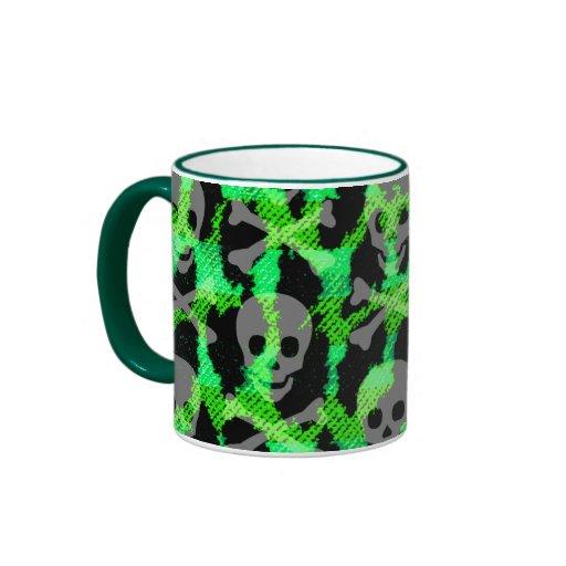 Taza verde del leopardo de Deathrock