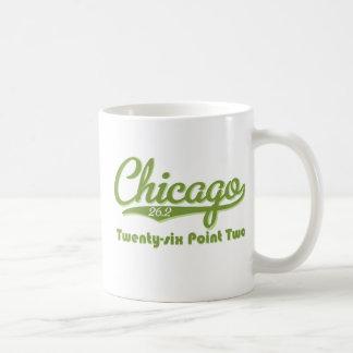 Taza verde del maratón de Chicago 26,2