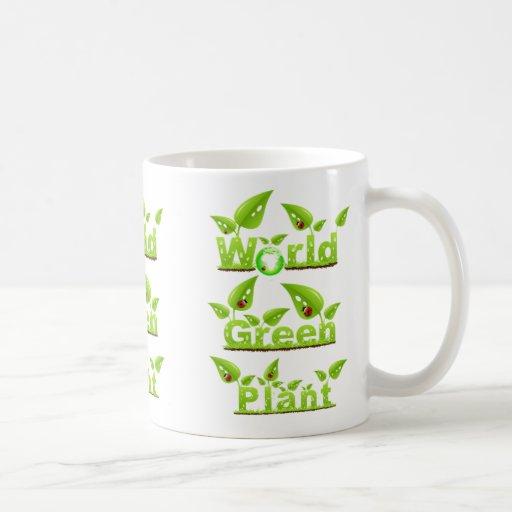 Taza verde del mundo