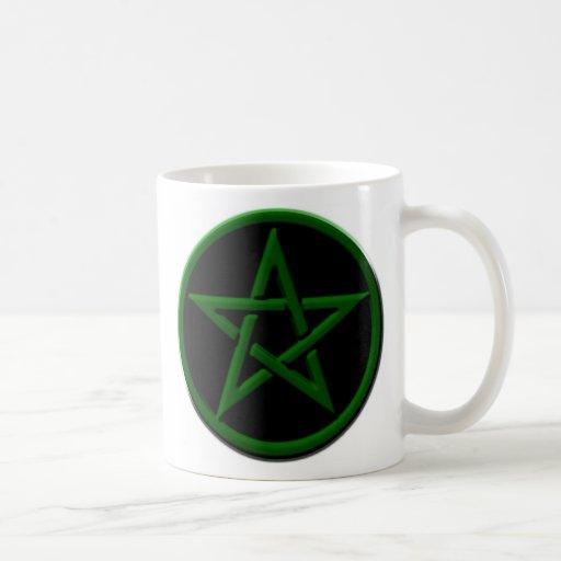Taza verde del Pentagram