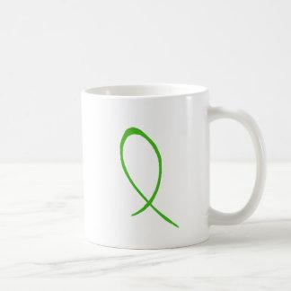 Taza verde del personalizable de la cinta