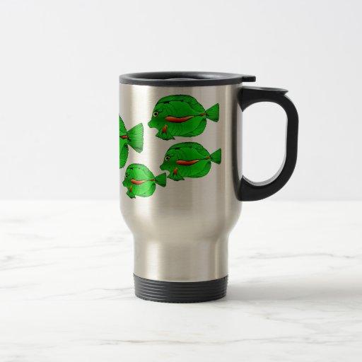 Taza verde del viajero del Angelfish