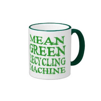 Taza verde mala