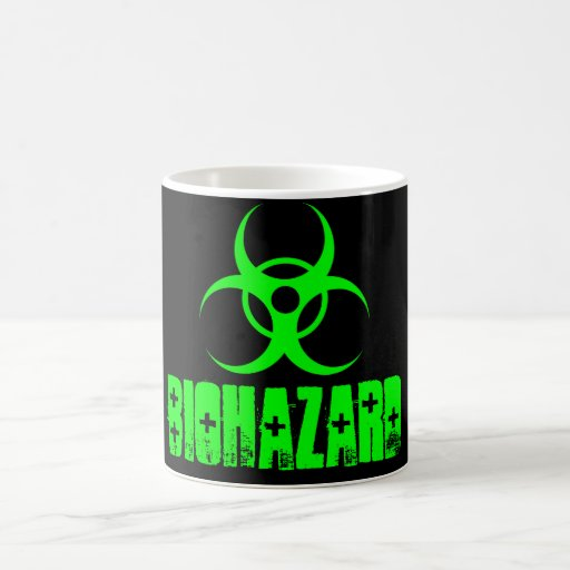 Taza verde/negra del Biohazard del color del cambi