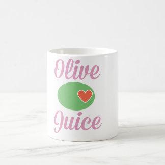 Taza verde oliva del rosa del jugo