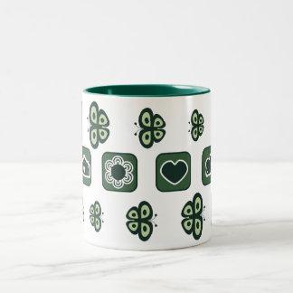 taza verde oscuro del regalo de la fiesta de bienv