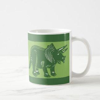 Taza verde oscuro del verde del Triceratops