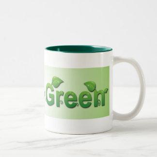 Taza verde que va