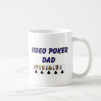 Taza video del papá del póker