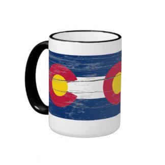 Taza vieja de la pintura de Colorado