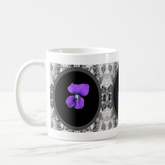 Taza violeta púrpura