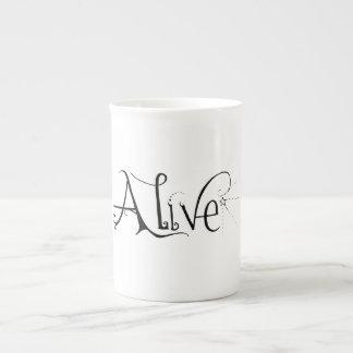 """Taza """"viva"""" de la porcelana de hueso tazas de china"""