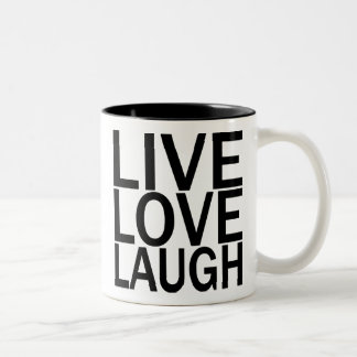 Taza viva de la risa del amor