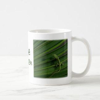 Taza viva del lagarto verde