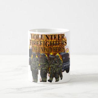 Taza voluntaria de los bomberos