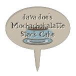 Taza y cuchara de café figuras de tarta