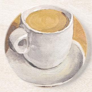 Taza y platillo del café express posavasos personalizados