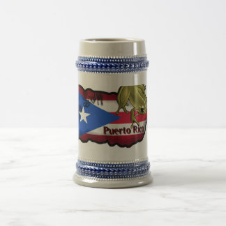 Taza Yo Soy Puerto Rico Beer Stein