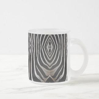 Tazas abstractas animales del diseño de la cebra