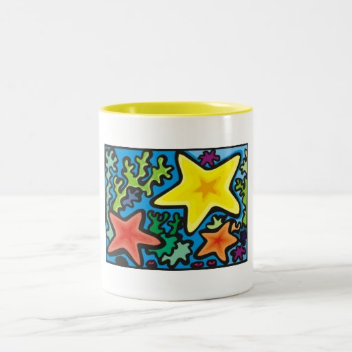 Tazas abstractas de las estrellas de mar