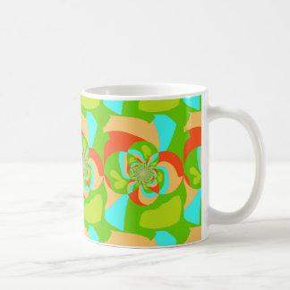 Tazas abstractas psicodélicas retras del diseño