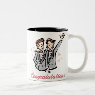 Tazas adaptables del boda del orgullo gay